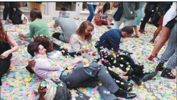 One million confetti petals launched
