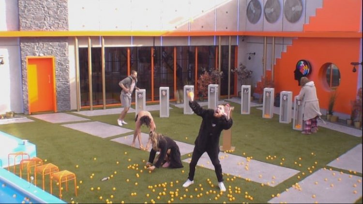 Table tennis balls rain down on BigBrother contestants