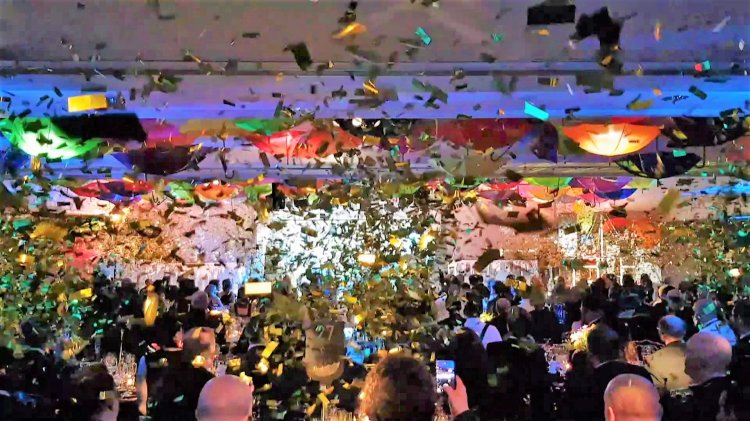 Glitter confetti cannons explode at the Vue Cinema awards
