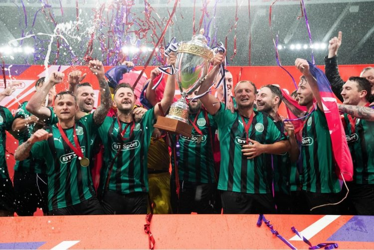 BT Sport Pub Cup winners celebrate in Premiere League style with a battery of streamer cannons