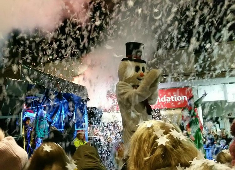 Confetti cannons bring a burst of excitement to Christmas Lights Switch-on events