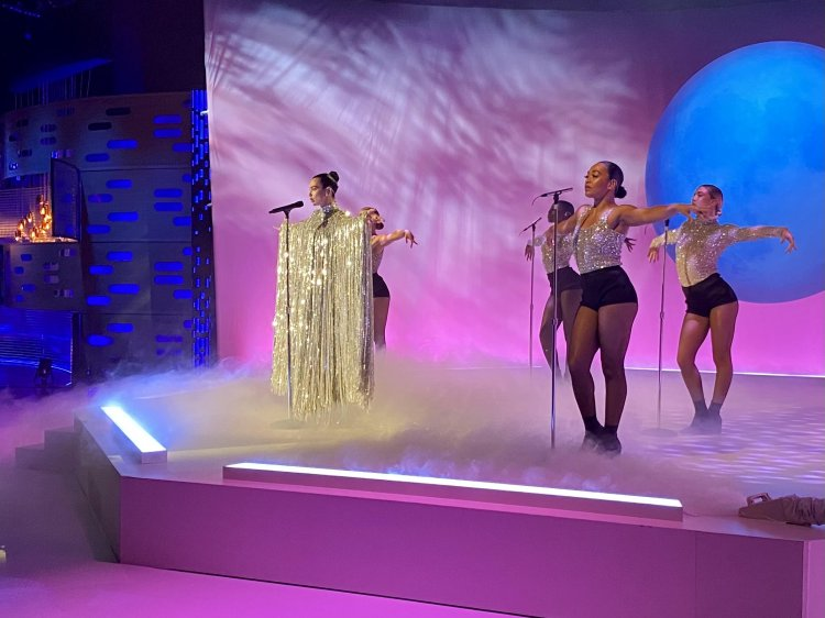 Confetti Magic provides low smoke effects to accompany Dua Lipa's performance on The Graham Norton Television Show